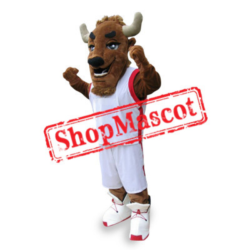 College Buffalo Mascot Costume Free Shipping