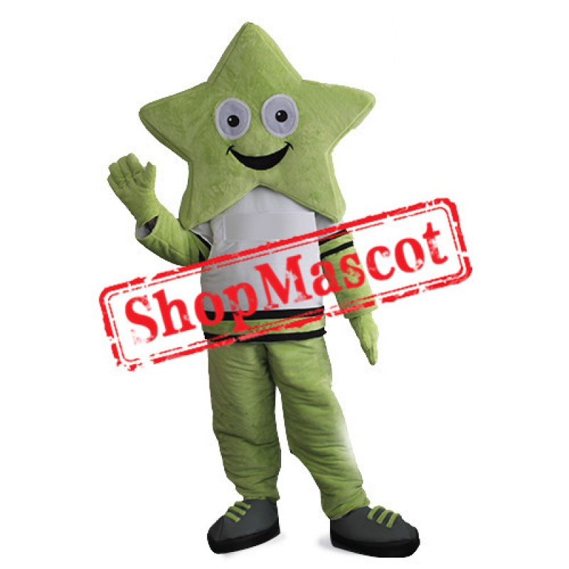Red Star Man Mascot Costume