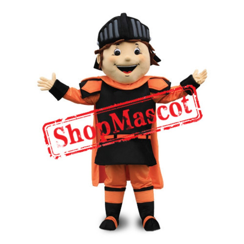 Happy Boy Knight Mascot Costume