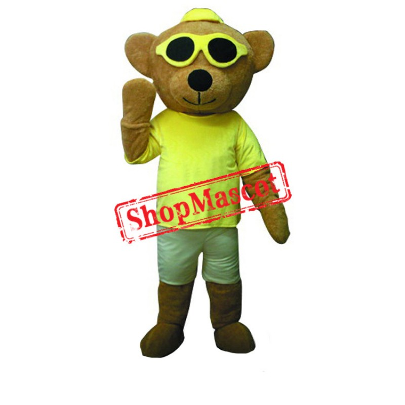 Cool Hip Hop Bear Mascot Costume