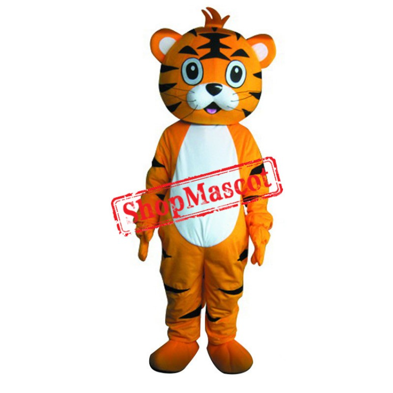 Cartoon Boy Tiger Mascot Costume