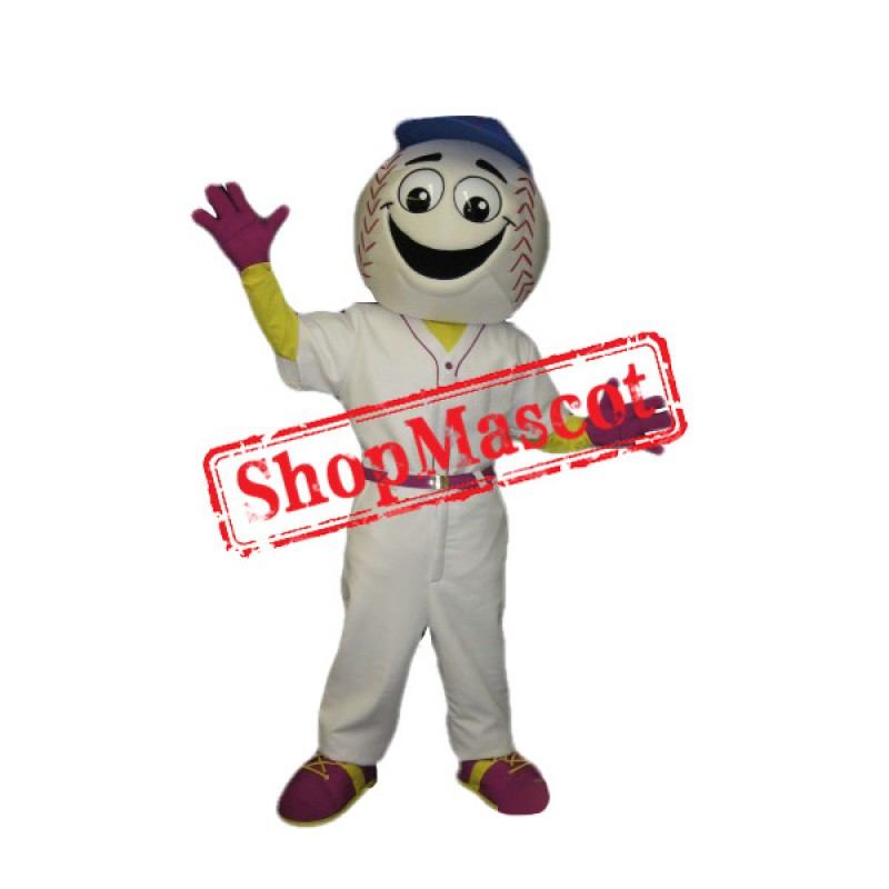 Happy Baseball Man Mascot Costume