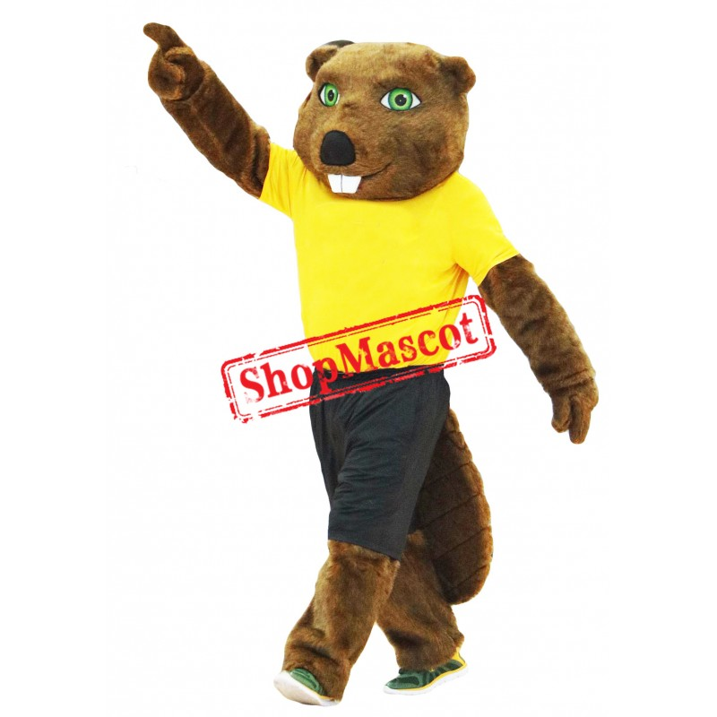 Sport Dark Brown Beaver Mascot Costume