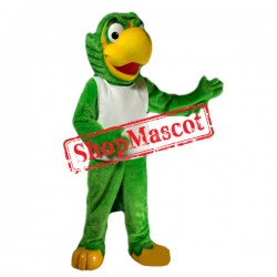 All Green Parrot Mascot Costume