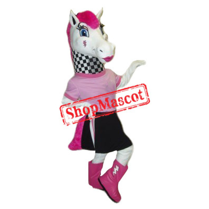 Beautiful Female Zebra Mascot Costume