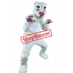 Super Cute White Tiger Mascot Costume Free Shipping