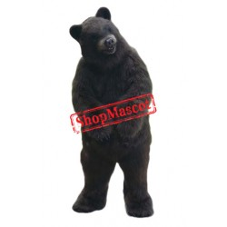 Realistic Black Bear Mascot Costume