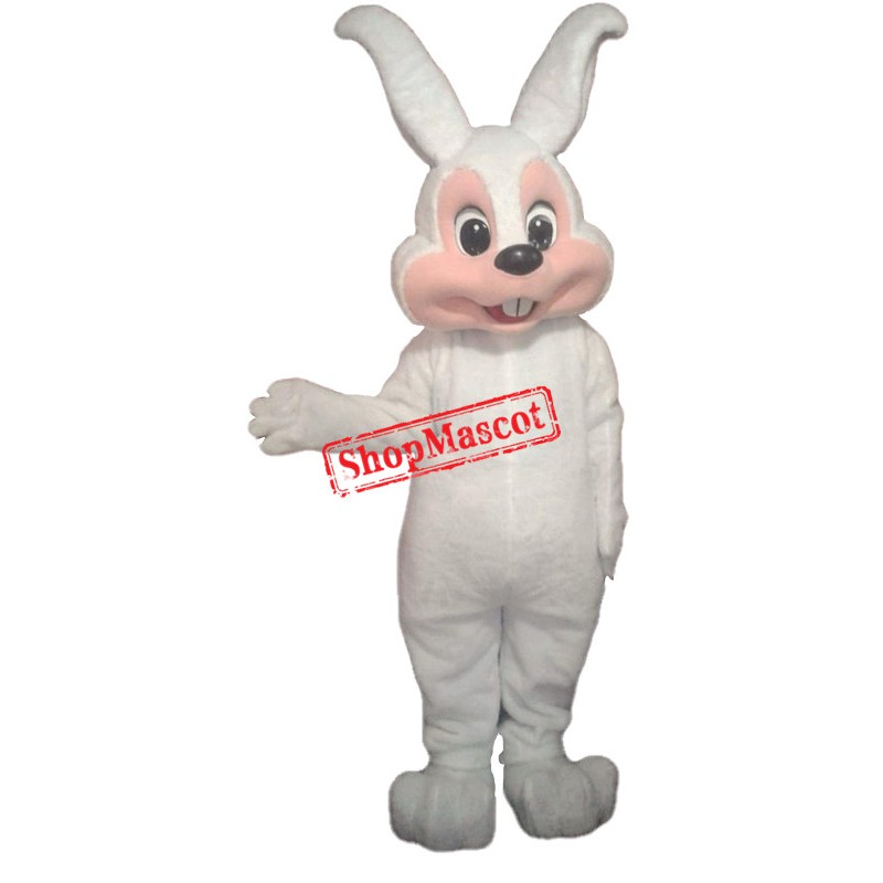 All White Easter Bunny Mascot Costume