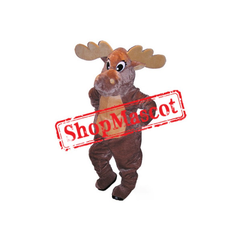 Super Cute Moose Mascot Costume Free Shipping