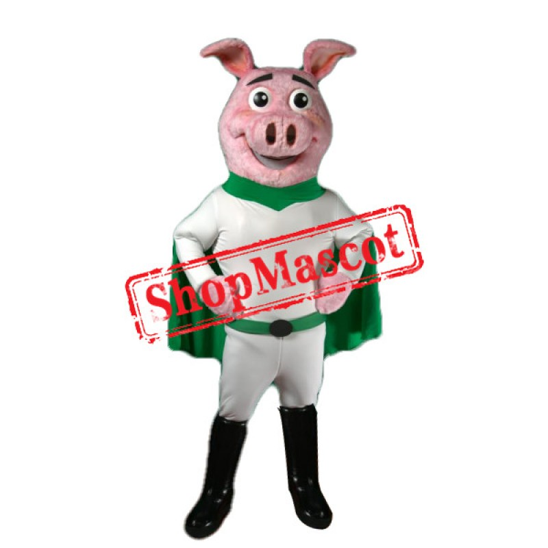 Super Power Pig Mascot Costume