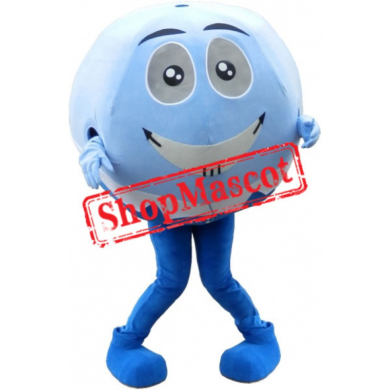 Blue & White Ball Mascot Costume