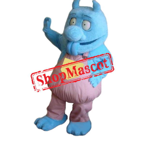 Cute Blue Monster Mascot Costume