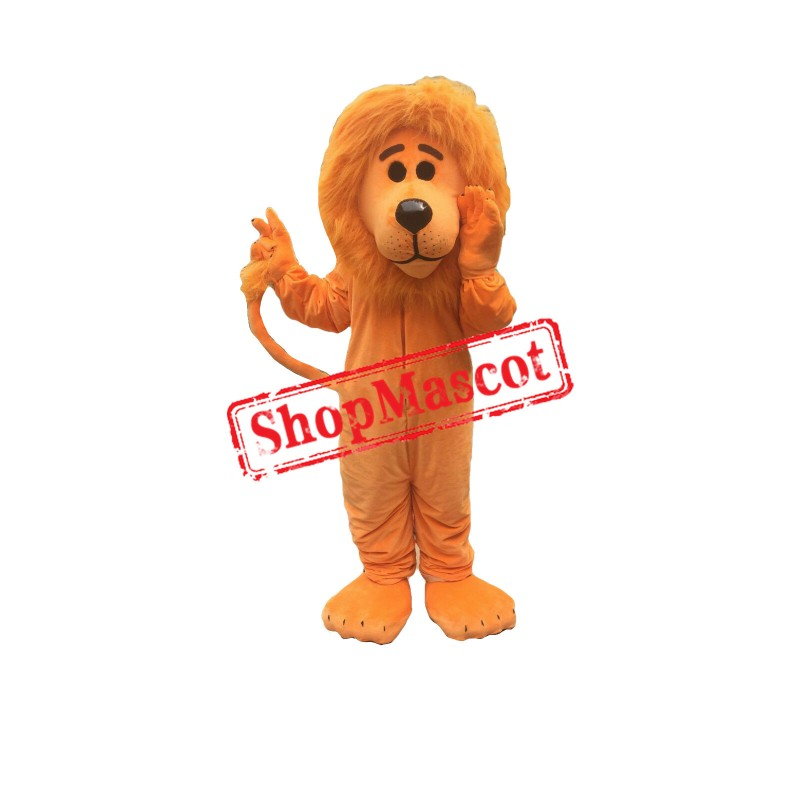 Orange Lion Mascot Costume