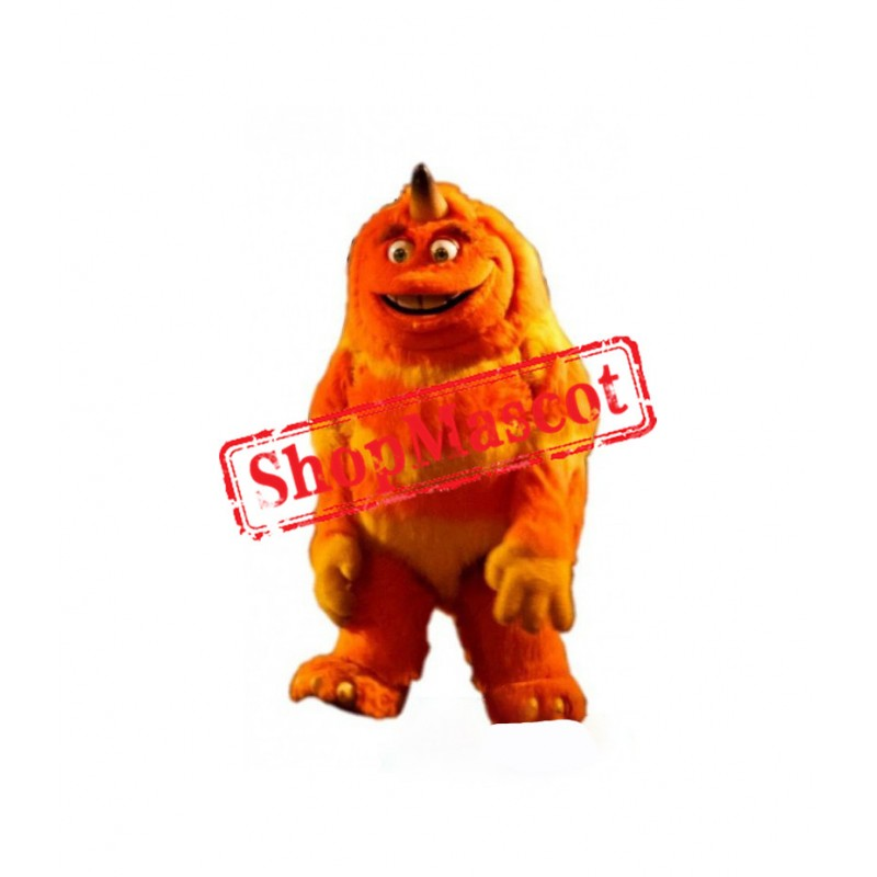 Orange Monster Mascot Costume