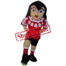 Football Girl Mascot Costume