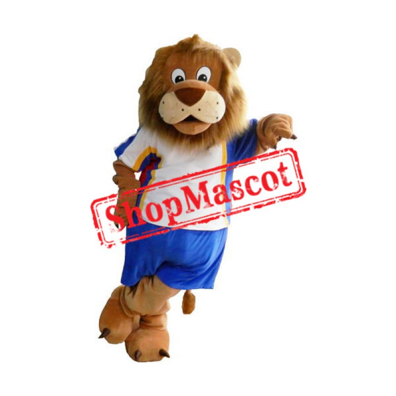Sport School Lion Mascot Costume