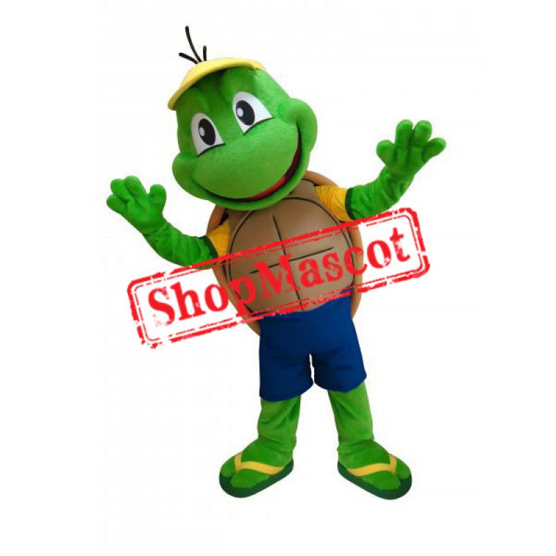 Little Green Turtle Mascot Costume