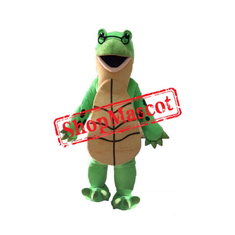 Green & Beige Turtle Mascot Costume