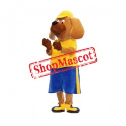 Sport Yellow Dog Mascot Costume