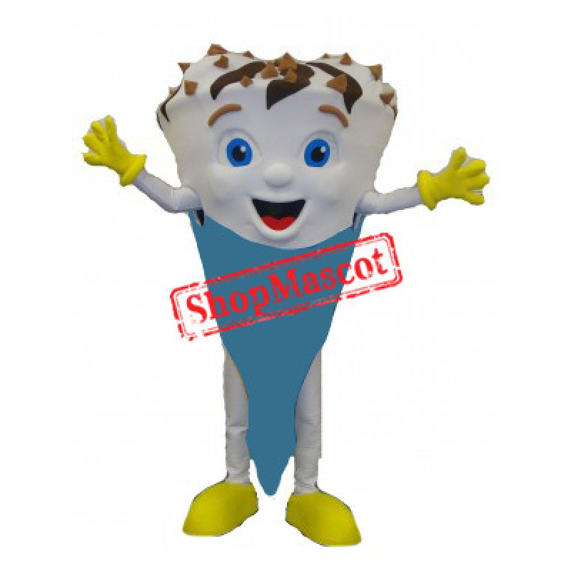Happy Lightweight Ice Cream Mascot Costume Free Shipping