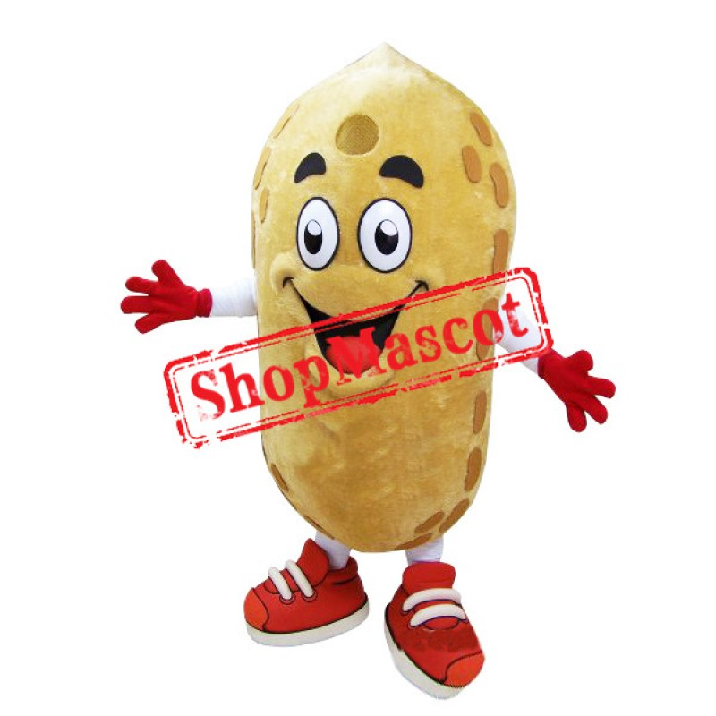 Happy Peanut Mascot Costume