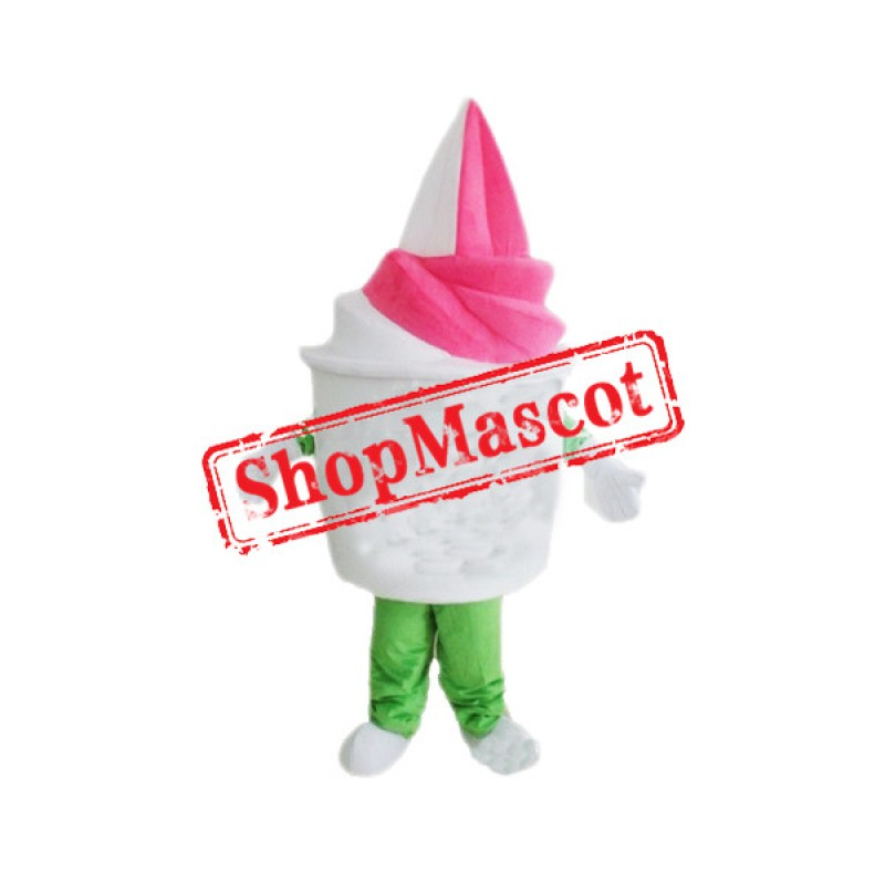 Vanilla Strawberry Ice Cream Mascot Costume