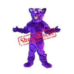 Happy Purple Leopard Mascot Costume