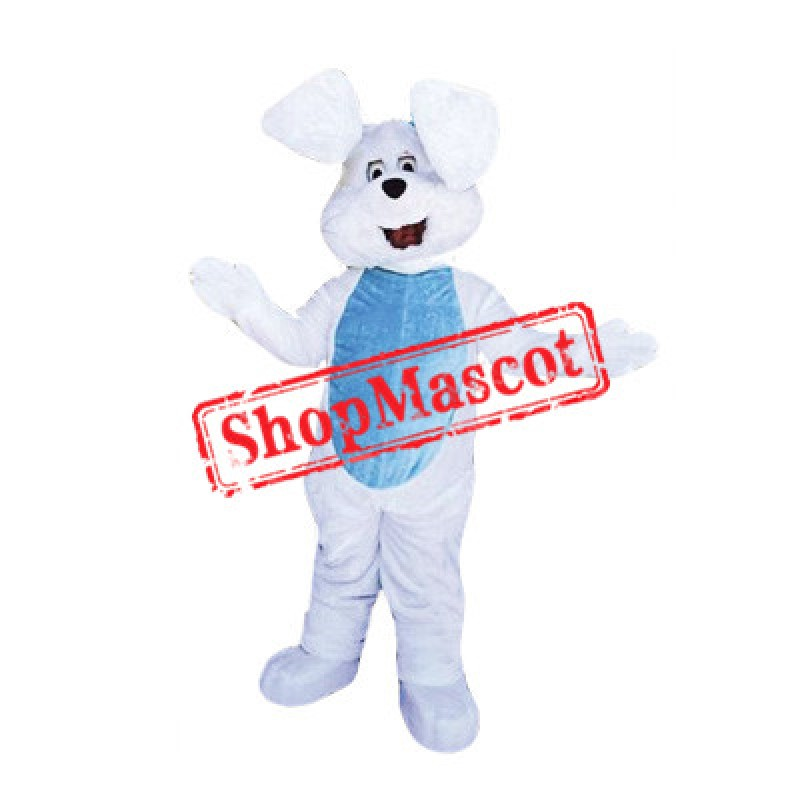 White East Bunny Mascot Costume