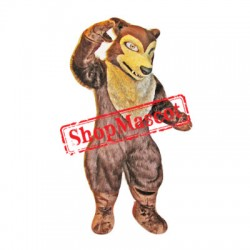 Fierce Brown Wolf Mascot Costume