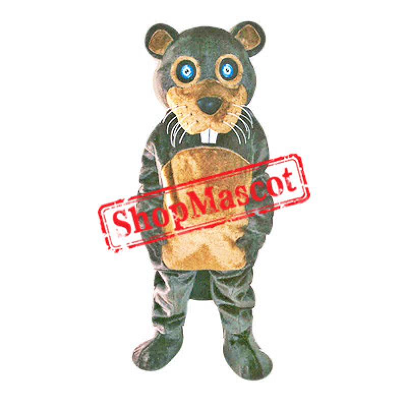Cute Brown Beaver Mascot Costume