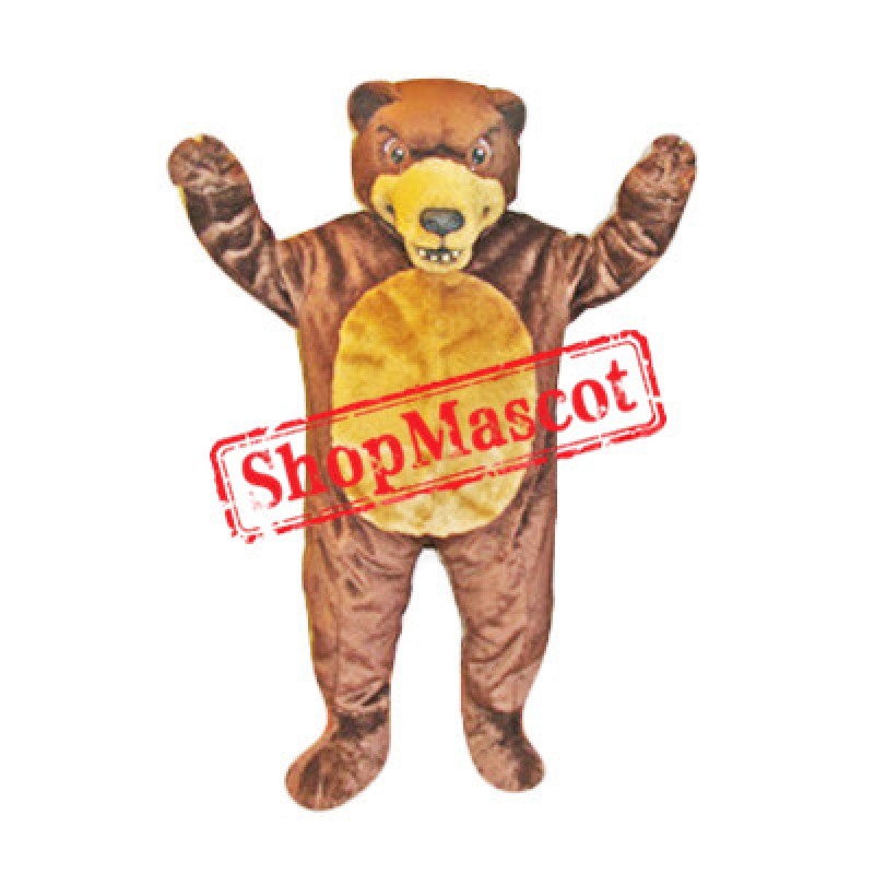 Fierce Realistic Grizzly Bear Mascot Costume