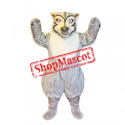 Cute Grey & White Wolf Mascot Costume