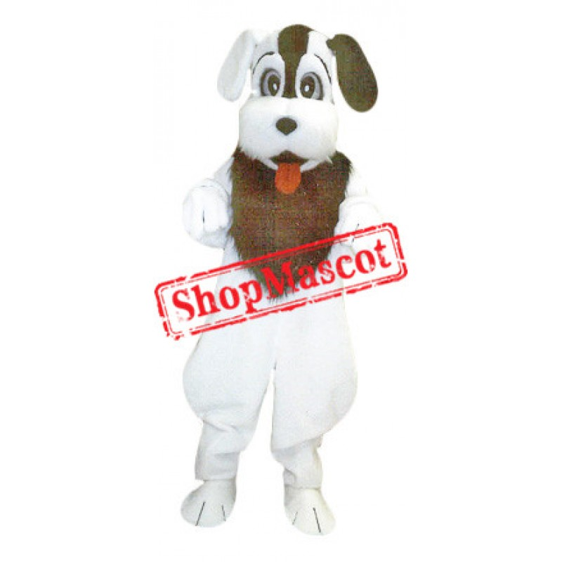 All White Dog Mascot Costume