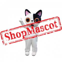 Lovely Black & White Cat Mascot Costume