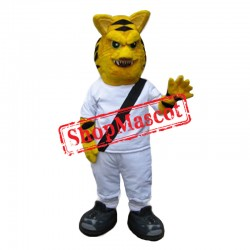Fierce Yellow Tiger Mascot Costume