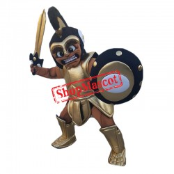 Black Spartan Warrior Mascot Costume