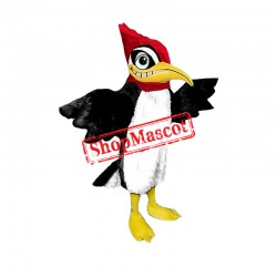 Red & Black Woodpecker Mascot Costume