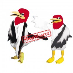 All White Chicken Mascot Costume