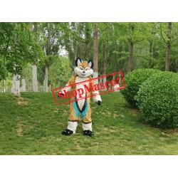 Brown Husky Dog Wolf Mascot Costume