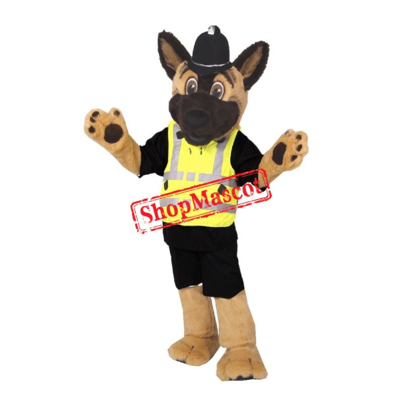 Staffs Police Dog Mascot Costume