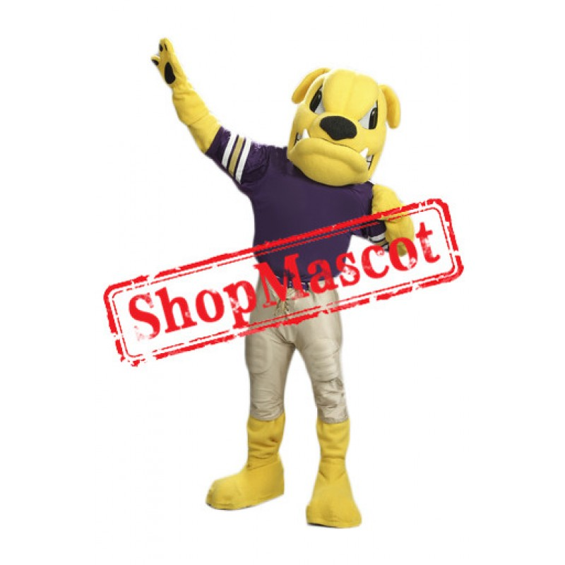 Yellow Bulldog Mascot Costume