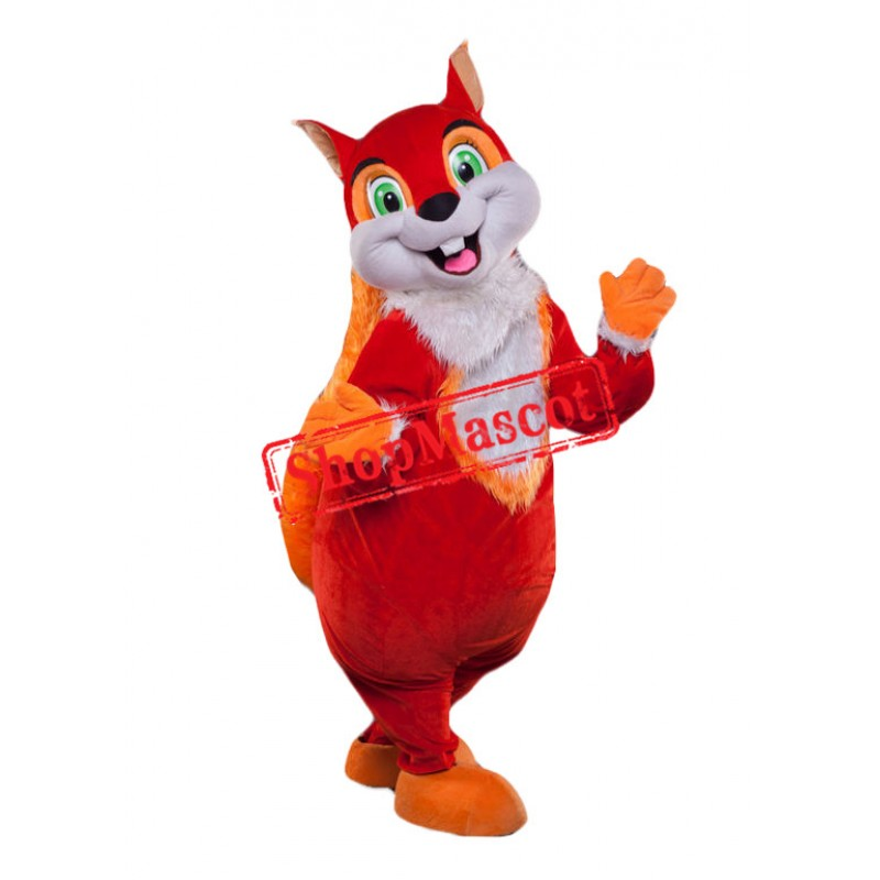 Happy Lightweight Animal Squirrel Mascot Costume