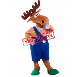 Thinker Moose Mascot Costume