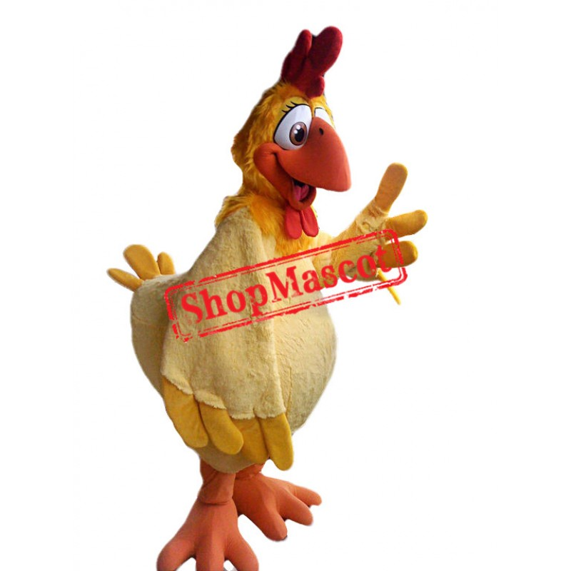 College Yellow Chicken Mascot Costume