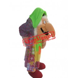 Old Grandma With Big Nose Mascot Costume