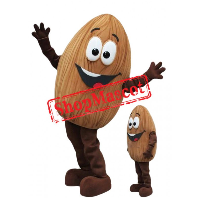 Cute Almond Mascot Costume