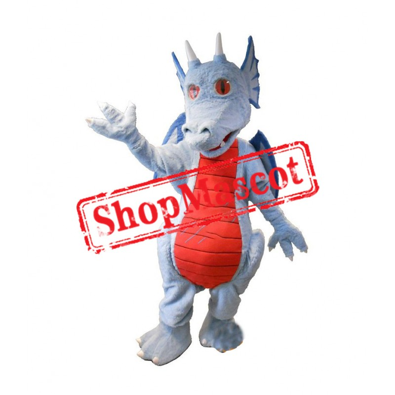 Blue Red Dragon Mascot Costume
