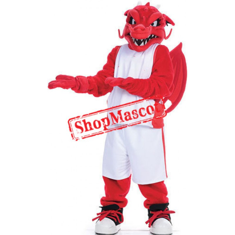 Fierce Sport Red Dragon Mascot Costume