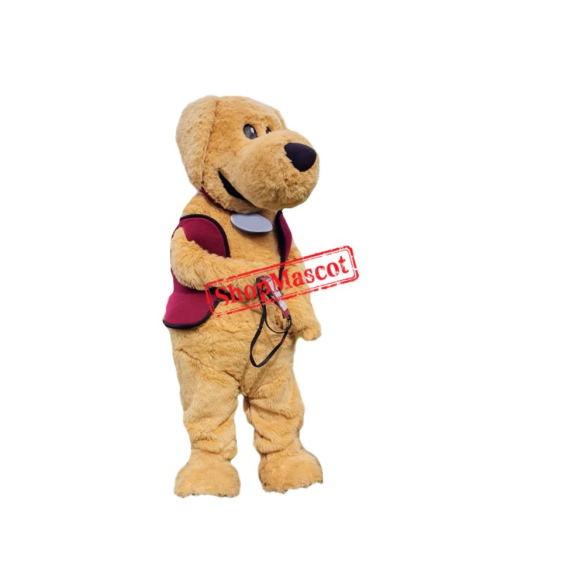 Brown Furry Dog Mascot Costume