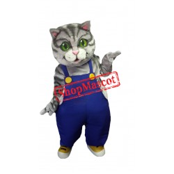 Partial Gray Cat Mascot Costume
